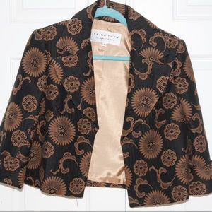 COPY - Trina Turk black and brown short patterned…